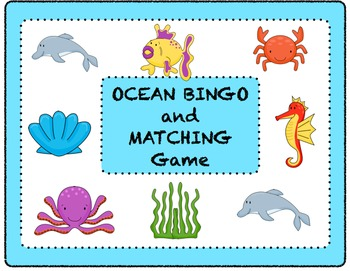 Ocean Bingo and Matching Game