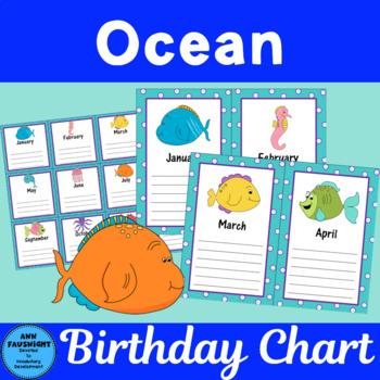 Ocean Birthday Chart