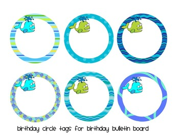 Ocean Birthday Mini-Bulletin Board Set