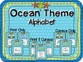 Ocean Blue Theme Alphabet Set