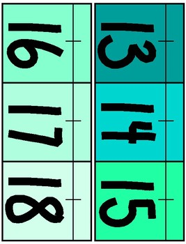 Ocean Blues Theme Classroom Number Line