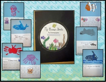 Ocean Book - A Book of Hand Prints and Facts