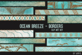 Ocean Breeze Art Border Clip Art 32 JPG Clip Art Strips 12