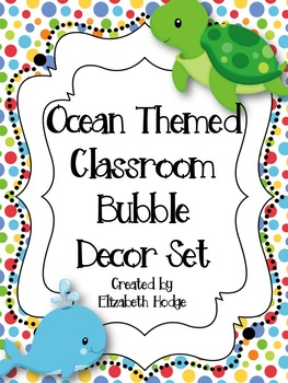Ocean Themed Bubble Decor Set