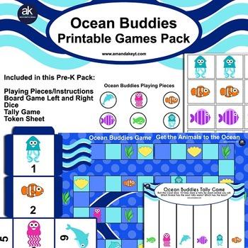 Ocean Buddies Games Printable Pack