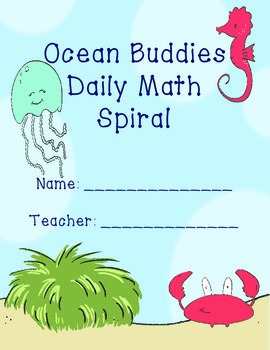 Ocean Buddies Themed Math Problem of the Day Packet- Spira