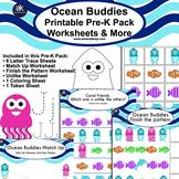 Ocean Buddies Worksheets and More Printable Pack