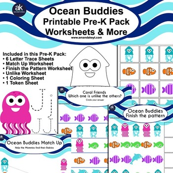 Ocean Buddies Worksheets and More Printable Pack