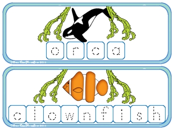 Ocean Build-a-Word Spelling & Vocabulary Game