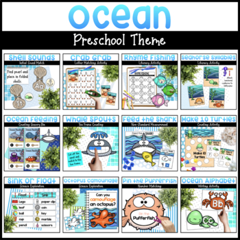 Ocean Bundle | Math & Literacy Activities