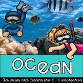Ocean Pack of Centers, activities, research, crafts for pre-k & kindergarten