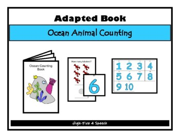 Ocean COUNTING Adapted Velcro BOOK, Speech Therapy, Autism, Early Childhood