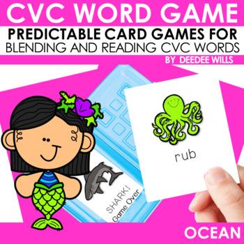 CVC word game:  Ocean and SHARK!!! CVC Game