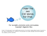 Ocean CVC Words