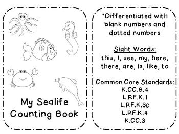 Ocean CVC/Sight Word Emergent Reader (common core aligned)