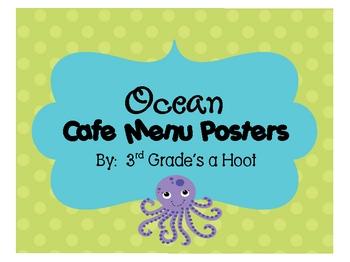 Ocean Cafe Signs