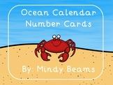 Ocean Calendar Number Cards