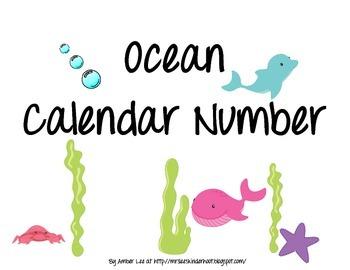 Ocean Calendar Numbers
