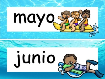 Ocean Calendar Set and Classroom Decorations {Spanish Version} EDITABLE!