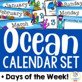Ocean Theme: Calendar Set and Days of the Week Display