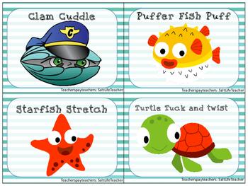 Ocean Calm Down Cards