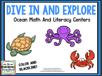 Ocean Centers!  Dive In And Explore!  A Math & Literacy Creation!