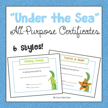 Ocean Certificates {Under the Sea}
