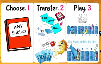 Ocean Chase:  Question & Answer Card Game, Reusable for ALL Subjects