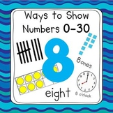 Ocean 0-30 Number Posters (Ten Frames, Tallies, Base Ten)