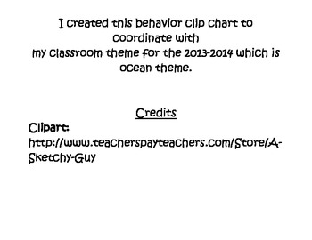 Ocean & Chevron Theme Behavior Chart