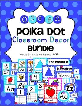Ocean Classroom Decor Bundle - Polka Dot