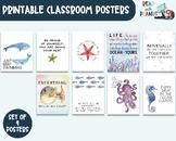 Ocean Classroom Decor, Growth Mindset, Inspirational Quote