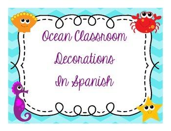 Ocean Classroom Decorations in Spanish