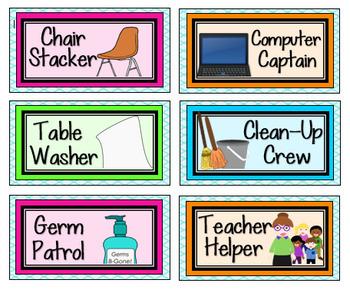 Classroom Jobs {Bright Version}