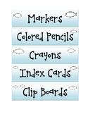 Ocean Classroom Labels