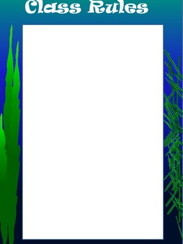 Ocean Classroom Management Posters