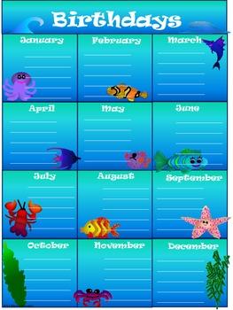 Ocean Classroom Management Set