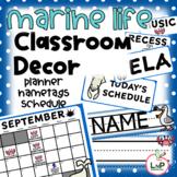 Ocean Classroom Theme - Teacher Planner Calendar, Schedule