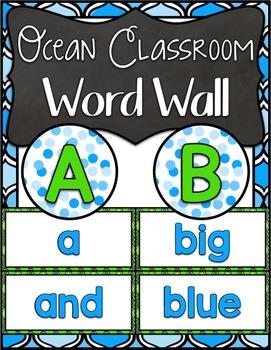 Ocean Classroom ~ Word Wall