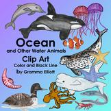 Ocean and Other Water Animals Clip Art - Whimsically Realistic