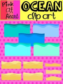 Ocean Clip Art Set