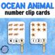 Ocean Clip Cards for Math Centers