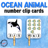 Ocean Clip Cards for Math Centers