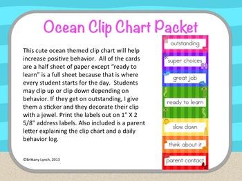 Ocean Clip Chart (Editable)