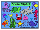 Ocean Sea Animals Clipart - For Commercial or Personal Use