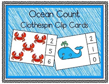 Ocean ClothesPin Count to 10