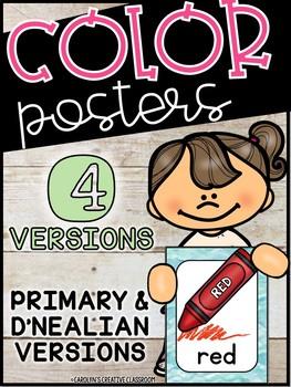 Ocean Color Posters (Set #2) - Ocean Classroom Decor