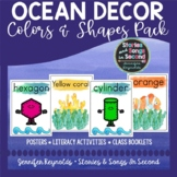 Ocean Color and Shape Posters | Classroom Decor | Poems an