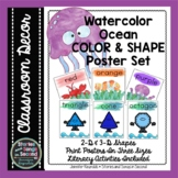 Ocean Color and Shape Posters   Classroom Decor   Poems an