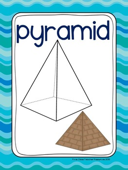 Ocean Colors Plane & Solid Shapes Poster Set (Math, Geometry)